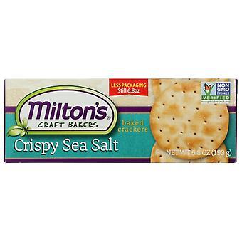 Miltons Crackr Grmt Crspy Sea Slt, Caso de 8 X 6.8 Oz