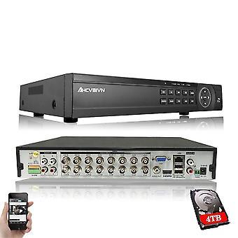 4ch 8ch /16ch Ahd Security Cctv Dvr H.264 5mp/4mp Ahd Cvi Tvi Analog Ip Camera