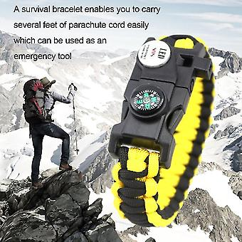 Emak 20 Em 1 Sos Impermeável Led Light Outdoor Camping Hiking Survival Bracelet