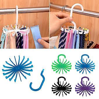 Adjustable 360° Rotating 18 Hook Neck Ties Organizer Rack Hanger Holder
