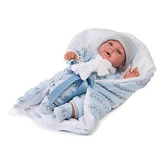 Baby Doll Rauber Blanket Blue (33 cm)
