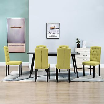 vidaXL تناول الطعام الكراسي 6 PCS. النسيج الأخضر