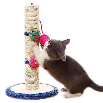 """16"""" Tall Cat Scratching Post, Claw Scratcher With Sisal Rope,pet Supplies"""