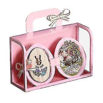 Mini Käsintehty mökki malli Lasten lelu lahja (vaaleanpunainen)