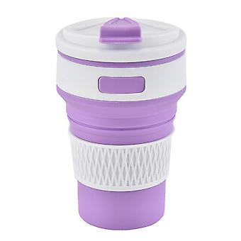 Silicone Pliable Travel Cup Portable Folding Cup -11.8oz /350ml