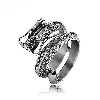 Dragon Stjernetegn Ring Titanium Steel Finger Ring til daglig brug