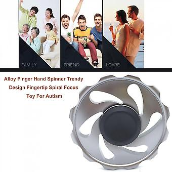 Fire Wheel Hand Spinner Adhd Anti-stress Aluminum Alloy Easy Play Finger Toy