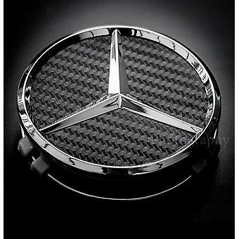 Black Carbon/Silver Mercedes Benz Wheel Center Cap Hub Badge 75mm 1 PCS For A B C E S G CLASS CLA CLS SLK ML AMG
