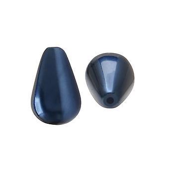 بريسيوسا كريستال Nacre بيرل، الكمثرى 10x6mm، 10 قطع، الأزرق