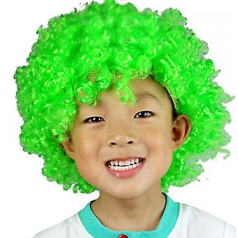 Party Supplies Festive Color Wig Funny Clown(Green)