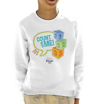 Blippi Count With Me Kid's Sweatshirt