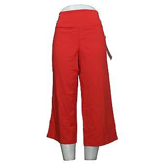 Vrouwen met Control Dames broek Petite Buik Controle Rood A375910
