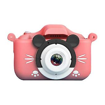 Cartoon Anti falde Mini Kids digitalkamera (Pink)