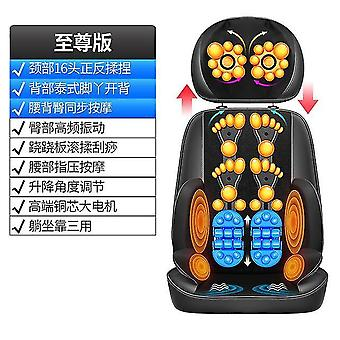 Elektrisches Massagegerät Nacken Lendenwirbelsäule Schultern Multifunktions-Körpervibration Knetstuhl Kissen