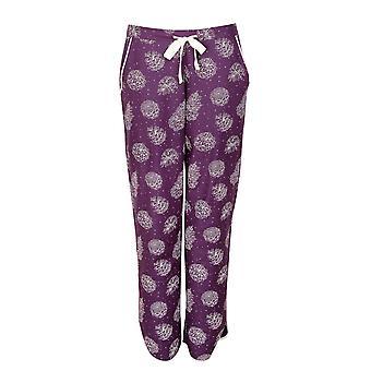 Cyberjammies Margo 4974 Pantalón de pijama de algodón purple pinecone para mujer