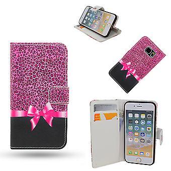 IPhone 6/6s taske/tegnebog læder-rosette