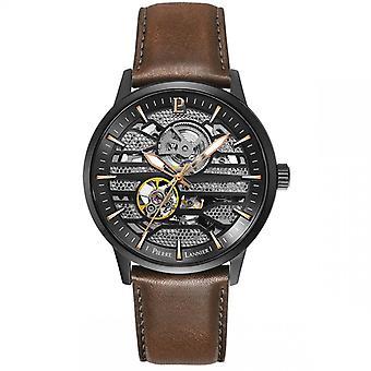 Miesten kello Pierre Lannier Watch isku 331G434 - Ruskea nahkahihna
