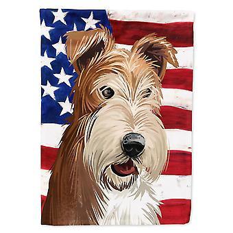 Flags windsocks fox terrier wire dog american flag flag garden size