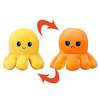 Homemiyn Switchable 2 الألوان، 2 التعبيرات، لطيف الأخطبوط أفخم للعبة، لينة إزالة الضغط على