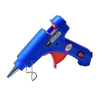Blue Hot Melt Glue Gun Mini Kids Handmade Diy Jewelry Accessories 20w Electric Fusion Gun Hot Glue Gun Plug In High Temperature Glue Gun