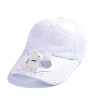 Korea Usb Fan Visor Cap Blue Quick Dry