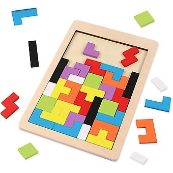 Wooden Blocks Puzzle ,colorful 3d Russian Blocks Game, Stem Montessori Educational Gift For Kids