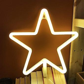 Led Star Neon Warmweißes Licht geeignet für Hochzeitsfeier Wanddekoration