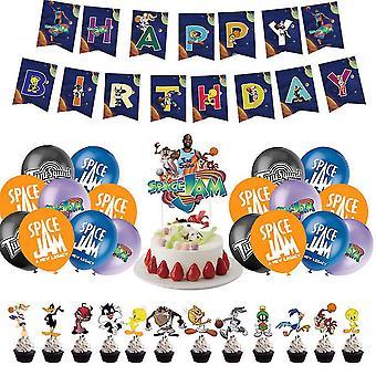 Space Jam Air Slam Dunk 2 James Themed Birthday Party Decoration Set