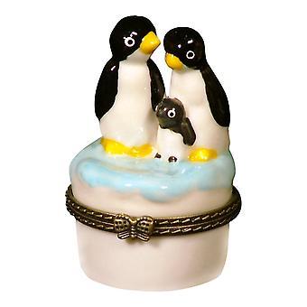 北極赤ちゃんペンギン ペンギン家族トリンケットボックス phb