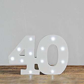 LED letter - Yesbox lights letter number 40
