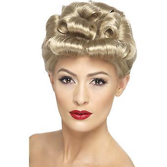 40s vintage parykk blonde med krøller
