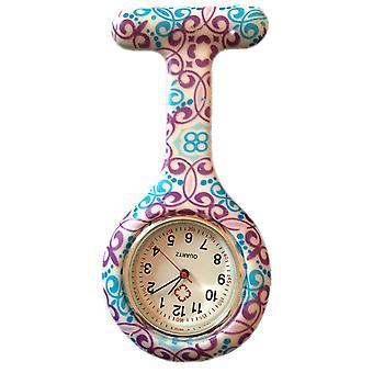 Infirmières mode couleur à motifs en caoutchouc de Silicone Fob montres - Wirbel