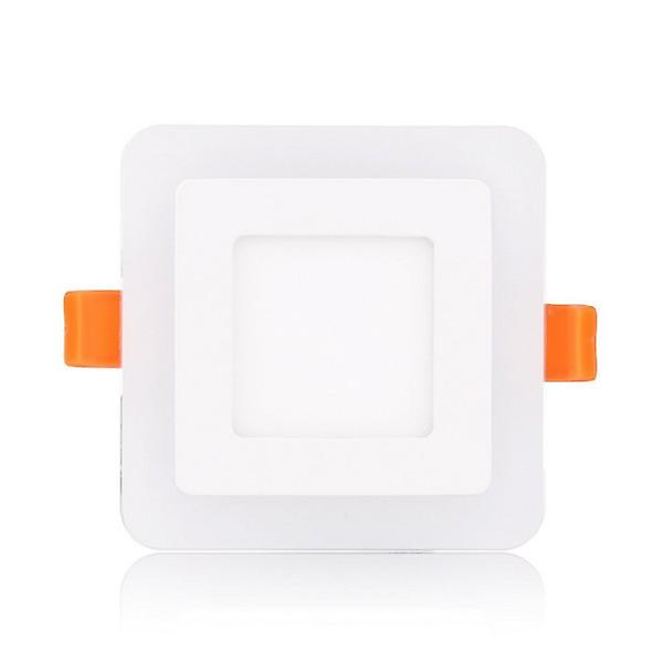 I LumoS Dual Colour LED 6 Watt Square Recessed Ceiling DownLight with Green Light