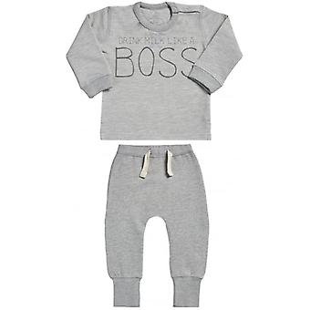 Spoilt Rotten I'm The BOSS Sweatshirt & Joggers Baby Outfit Set