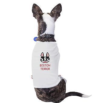 波士顿恐怖梗可爱图形狗衬衫礼物为小狗