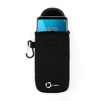 InventCase Neopreeni suojapussi kotelo LG V30 - musta