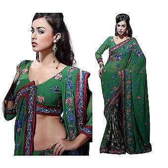 Aishwarya Bollywood faux Georgette Designer part bære Sari saree