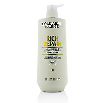 Dual Senses Rich Repair Restoring Shampoo (regeneration For Damaged Hair) - 1000ml/33.8oz
