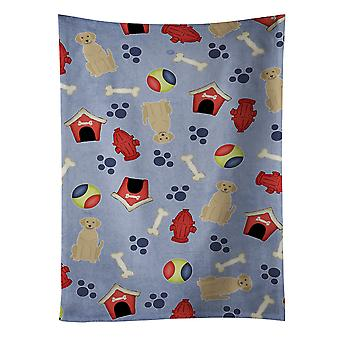 Dog House Collection Yellow Labrador Kitchen Towel
