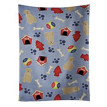 Dog House Collection gul Labrador kökshandduk