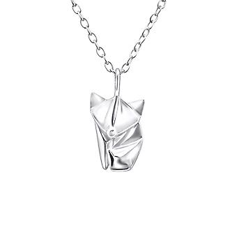 Origami Fox - 925 Sterling Silver Plain Necklaces - W26057x
