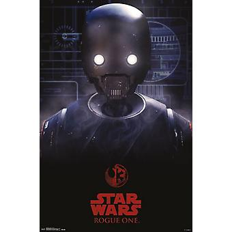 Star Wars Rogue - Droid Plakat Poster Druck