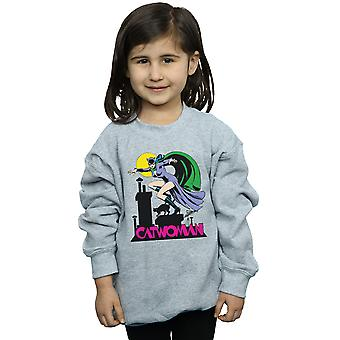 DC Comics Girls Catwoman Text Logo Sweatshirt