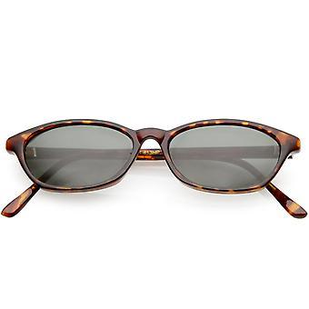 Echtes Vintage kleine Horn umrandeten Sonnenbrille Neutral farbige rechteckige Linse 48mm