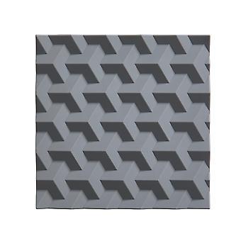 Oblast silikonové Trivet, šedá origami