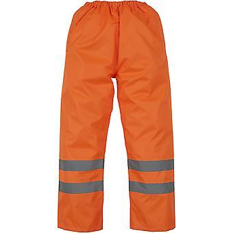 Yoko Mens High Vis Waterproof Overtrousers Orange