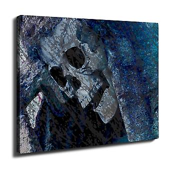 Death Skull Grim Wall Art Canvas 40cm x 30cm | Wellcoda