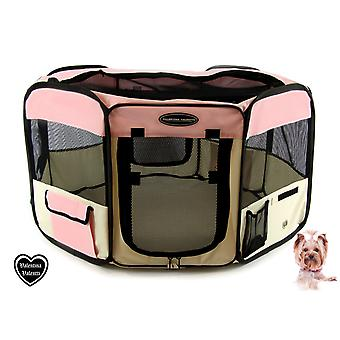 VALENTINA VALENTTI FABRIC FOLDING PET PLAY PEN ヨ SMALL ヨ Pink - S