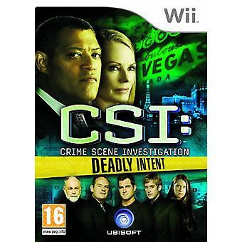CSI Crime Scene onderzoek-dodelijke intentie (Wii)-fabriek verzegeld