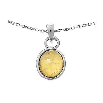 Orphelia hopea 925 ketju riipus soikea kulta arkki ZH-6040/2
